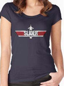 Custom Top Gun Style - Slider Women's Fitted Scoop T-Shirt