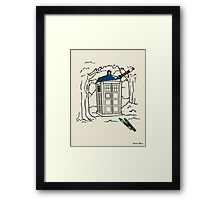 Mad Man with A Box of Crayons Framed Print