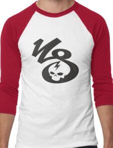 KrakkdSkullz - KS Logo - Black Men's Baseball ¾ T-Shirt