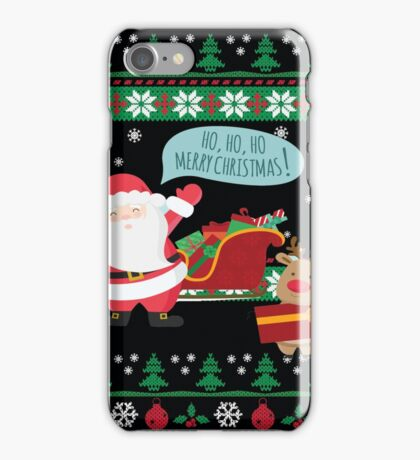 Ugly Christmas- Santa Ugly christmas sweat 2a iPhone Case/Skin