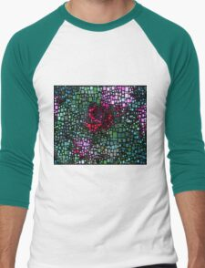 Dazzle Flowers Men's Baseball ¾ T-Shirt