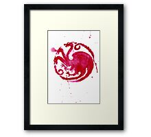 dragon coat of arms (card) Framed Print