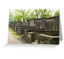 Scottish Cemetry in Edinburgh Greeting Card