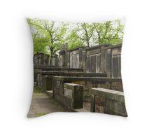 Scottish Cemetry in Edinburgh Throw Pillow