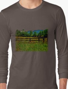 The Old Fence, The Ancient Mountains, and The Wild Field Long Sleeve T-Shirt