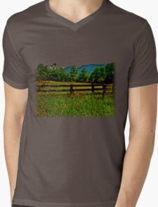 The Old Fence, The Ancient Mountains, and The Wild Field Mens V-Neck T-Shirt