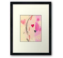 Corner of the heart Framed Print