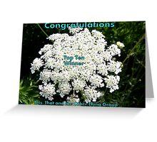 Top Ten Banner - Something White Greeting Card