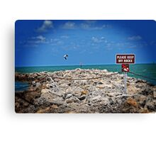 Keep Off The Rocks HDR Canvas Print