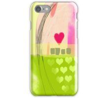 Corner of pink heart iPhone Case/Skin