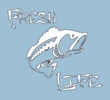 Fresh Life Back White T-shirt Kids Tee