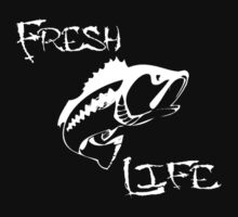 Fresh Life Back White T-shirt by Fl  Fishing