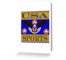 USA Sports Blue Greeting Card