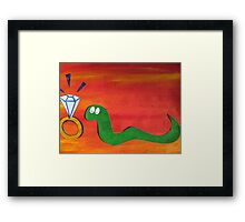 Snake With a Fake Framed Print