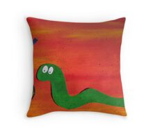 Snake With a Fake Throw Pillow