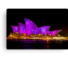 VIVID in the pink/purple Canvas Print