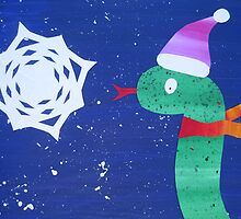 Snake with a Snow Flake by cathyjacobs