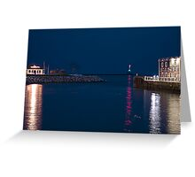 West Slip Shining at Night Greeting Card