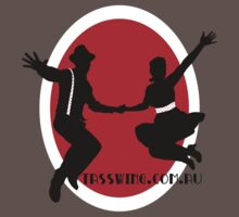 Tasswing Tee - With red & white circle by Elvedee