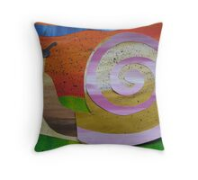 Snail reading Braille- recycled math book rhymes Throw Pillow