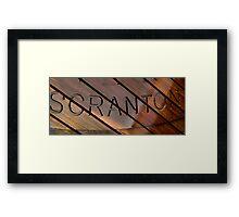 Scranton Framed Print