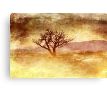 Tree At Dusk in Waikoloa Revisited Canvas Print