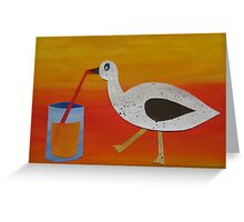 Goose with Juice- rhymes made from recycled math books Greeting Card