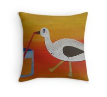 Goose with Juice- rhymes made from recycled math books Throw Pillow