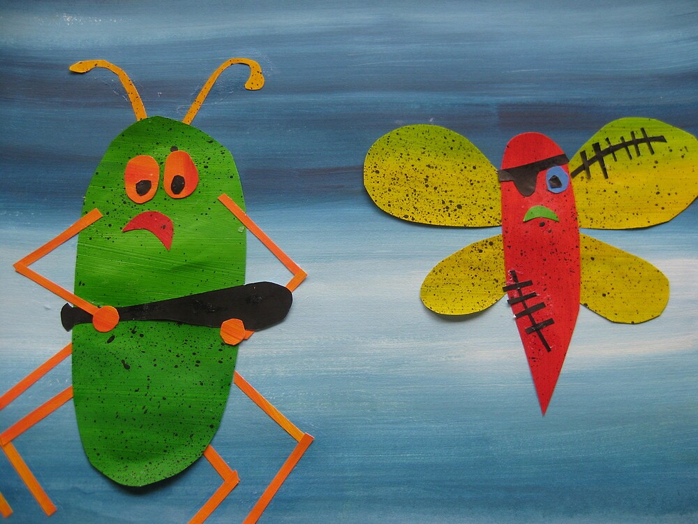 Bug thugs- Animal Rhymes - created from recycled math books by cathyjacobs