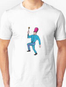 Marching Band Leader Baton Cartoon T-Shirt