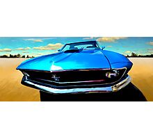 """Mustang """"What's UP?"""" Photographic Print"""