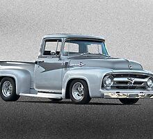 1956 Ford F100 Custom Pick-Up Truck II by DaveKoontz