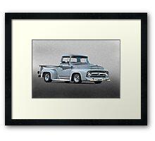 1956 Ford F100 Custom Pick-Up Truck II Framed Print