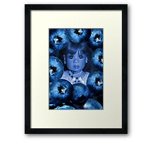 。◕‿◕。 4 THE LUV OF BLUEBERRIES JUST DON'T EAT 2 MUCH U MIGHT TURN BLUE LOL。◕‿◕。 Framed Print