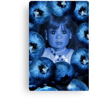 。◕‿◕。 4 THE LUV OF BLUEBERRIES JUST DON'T EAT 2 MUCH U MIGHT TURN BLUE LOL。◕‿◕。 Canvas Print