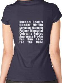 Dunder Mifflin Fun Run Women's Fitted Scoop T-Shirt