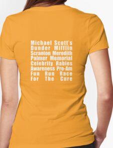 Dunder Mifflin Fun Run Womens Fitted T-Shirt