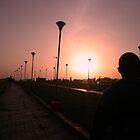 Diminshing red sunset,Kanyakumari by sivagurun