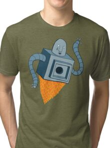 sad robot sails into the void Tri-blend T-Shirt