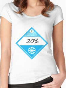 20% Cooler Placard Women's Fitted Scoop T-Shirt