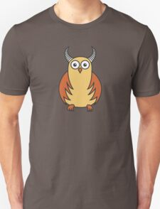 Funny Cartoon Horned Owl T-Shirt