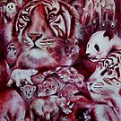 I See Red - endangered animals by Cheryl White
