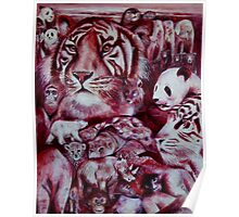 I See Red - endangered animals Poster
