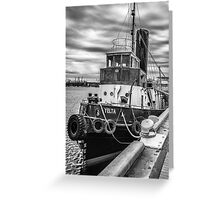 Yelta : The old tug boat at the Port. Greeting Card