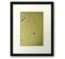 """String of Pearls""  Framed Print"