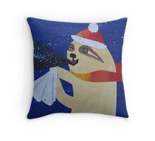 Sloth with a cough Throw Pillow