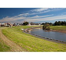 Hunter River  behind City Centre -Maitland NSW Australia Photographic Print