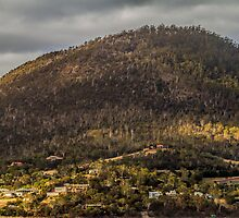 Hobart from the Derwent River, Tasmania by Elaine Teague