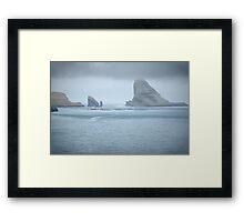 Faroe Island Landscape, HDR Framed Print