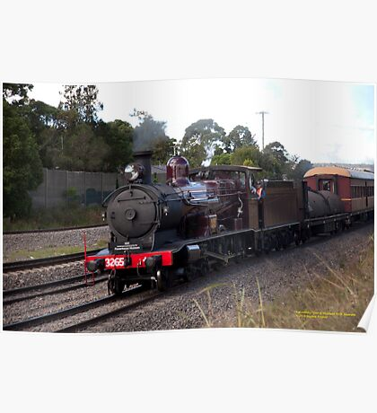 Steam Loco 3265 -Maitland NSW Australia Poster